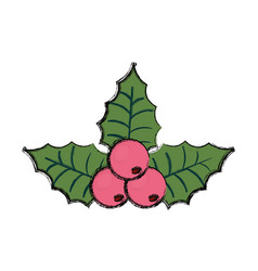 Christmas pick vector