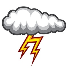 Cloud lighting icon vector image