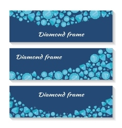 Diamond Frame Templates Set Jewelry Diamonds vector image