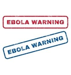 Ebola warning rubber stamps vector