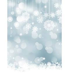 Elegant christmas silver vector