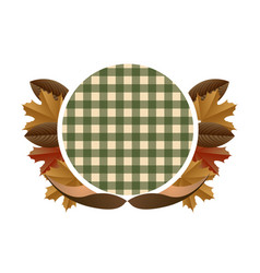 empty label with leaves vector image