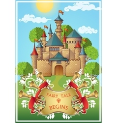 Fairy tale about knight poster vector