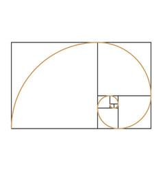 Fibonacci spiral symbol vector