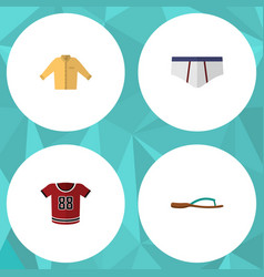 flat icon dress set of underclothes t-shirt vector image