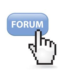 Forum button vector