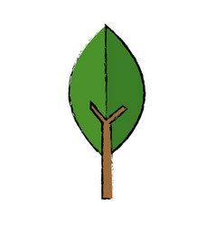 Green leaf natural environment ecology symbol vector