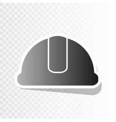 Hardhat sign new year blackish icon on vector