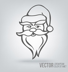 Icon santa claus isolated black on white vector