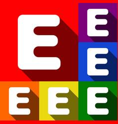 letter e sign design template element set vector image