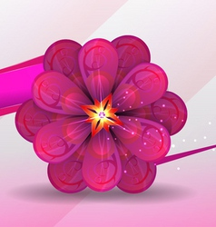 lilac flower vector image vector image