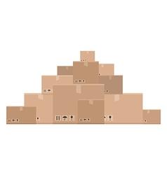 Mountain of boxes vector
