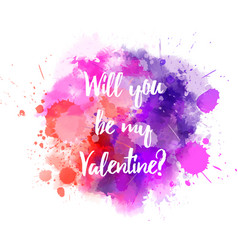 Pink and purple valentine splash vector