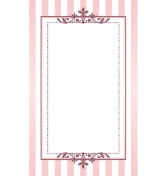 Pink and white background vector image vector image