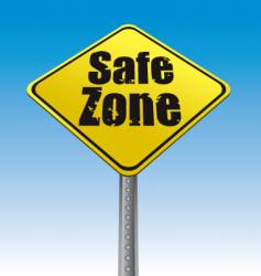 road sign safe zone illustration vector image