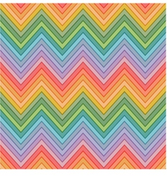 Seamless multicolors zig zag pattern vector