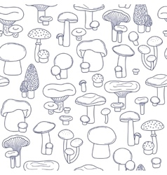 Seamless mushrooms pattern vector
