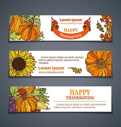 Set of harvest horizontal banners vector