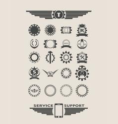 set of industrial design elements vector image