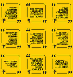 Set of motivational quotes about intelligence vector image