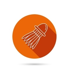 Shuttlecock icon Badminton sport equipment vector image