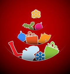 Simple red christmas card vector image vector image
