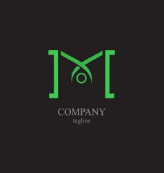 the letter m logo - a symbol of your business vector image