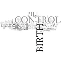 What women should know about birth control pill vector