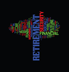 Your financial future is in your hands text vector