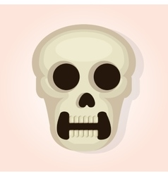 Skull head dead day vector
