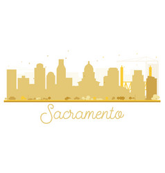Sacramento city skyline golden silhouette vector