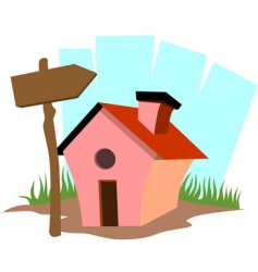 Mini house vector