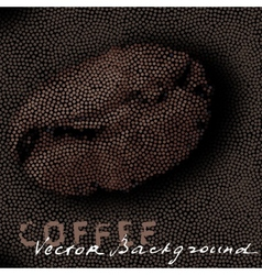 Background with coffee bean from circles vector