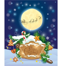 Xmas card wood frame 2 380 vector