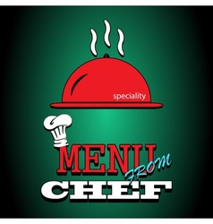 Flat poster Restaurant menu design Special dishes vector image