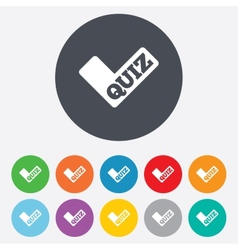 Quiz sign icon questions and answers game vector