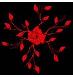 Asian floral design vector image