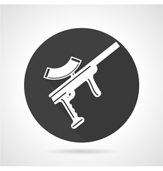 Paintball rifle black round icon vector