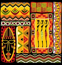 afrikan design set vector image