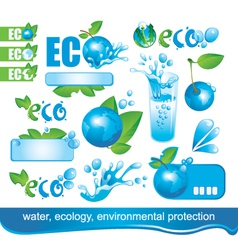 Ecology and the environment vector