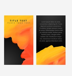 Abstract yellow paint banners card vector