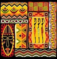 afrikan design set vector image
