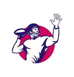 American quarterback vector