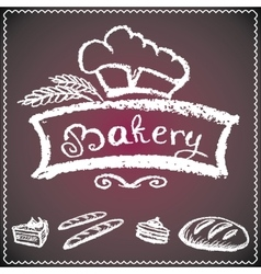 bakery background vector image vector image