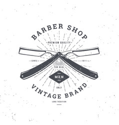 barber shop double razor vector image