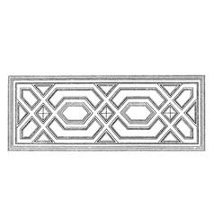Ceiling design germany vintage engraving vector