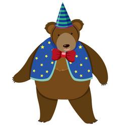 Circus bear in costume vector
