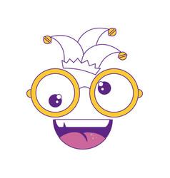 Comic face icon vector