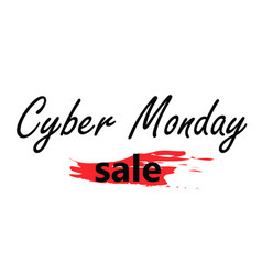 Cyber monday sale logo vector
