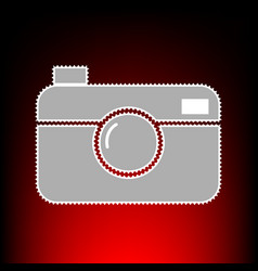 digital photo camera sign postage stamp or old vector image